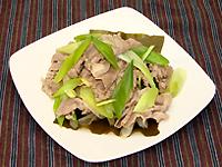 豚肉と昆布のうま煮