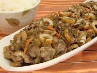 満点おかずきざみ昆布と豚肉の炒め煮+ちくわ