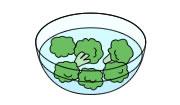 ブロッコリー 洗う